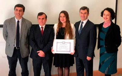 Premio Sociedad Médica de Santiago al Mejor Egresado del Programa de Medicina Interna 2018