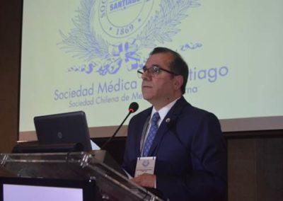 Dr. Gilberto González, Presidente de la Sociedad Médica de Santiago