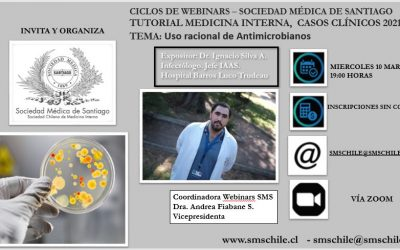 SMS INVITA A TUTORIAL MEDICINA INTERNA, CASOS CLÍNICOS 2021